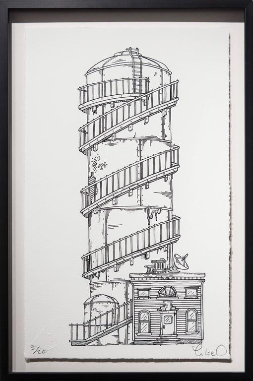 Spiral Tower - Print by Luke O'Sullivan