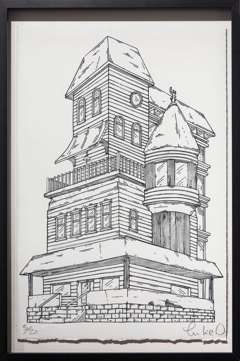 Luke O'Sullivan Figurative Print - Winchester Heights