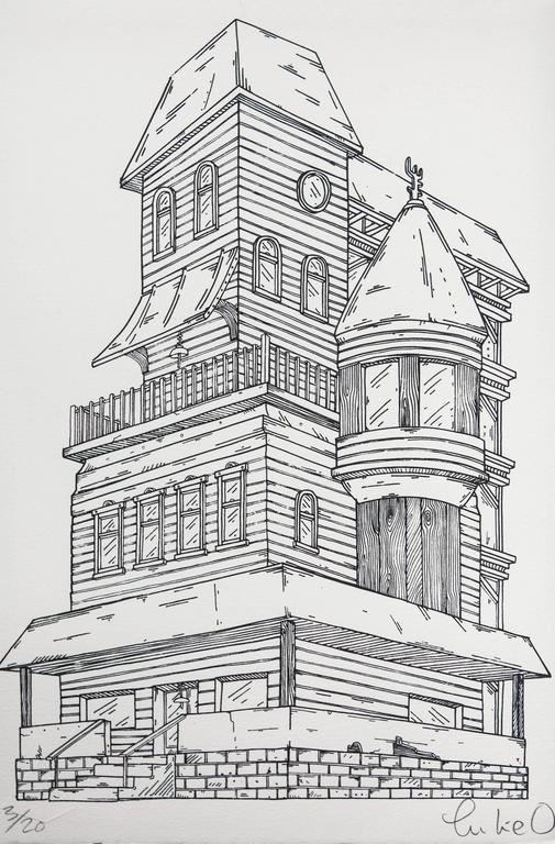 Winchester Heights - Print by Luke O'Sullivan