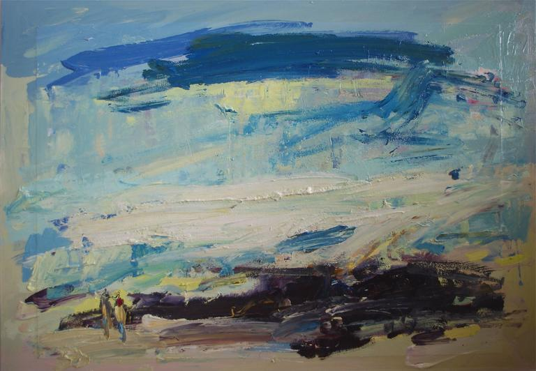 Paul wadsworth Abstract Painting - Paddling Together