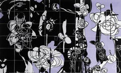 Rhosyn Du –  Black Rose. Contemporary Quilt