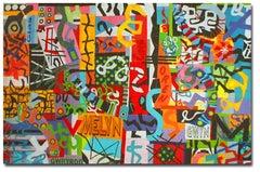 Taffiti Graffiti, Contemporary Quilt