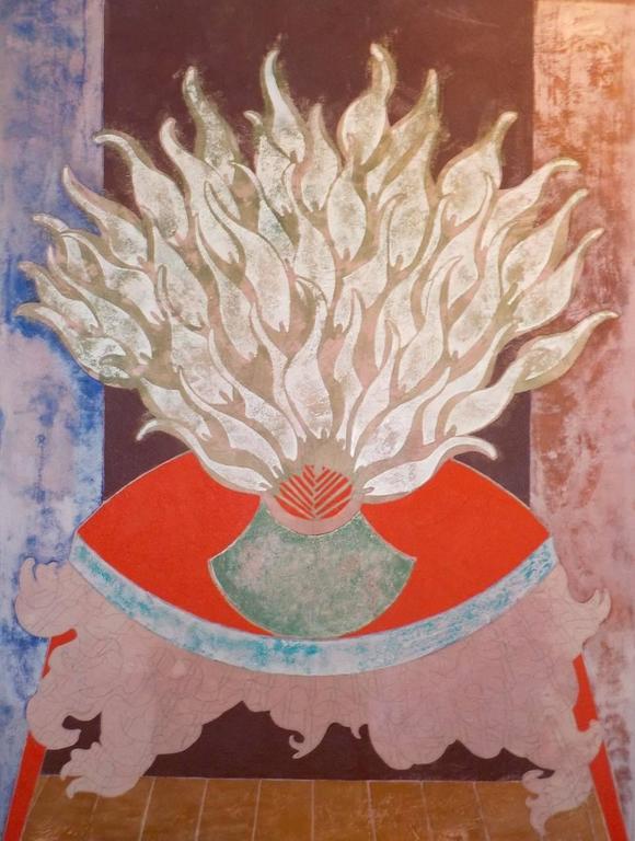 Sax Berlin Still-Life Painting - Fire Flowers
