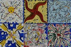 Set of 6 Dali Maurice Duchin Tiles. 1954
