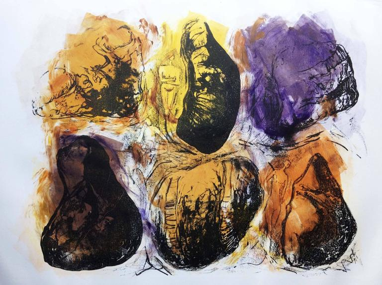 Barbara Wagner Abstract Print - It's Only Rock 1