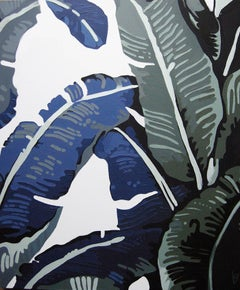 Banana Leaves, 4: Contemporary Still Life Acrylic On Canvas Painting