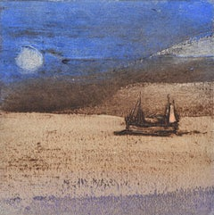 Night Fishing> .Contemporary Limited Edition Etching