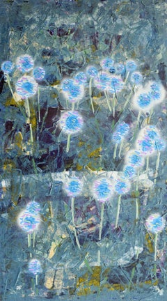 Globe Thistles: Contemporary British Landscape Oil Painting