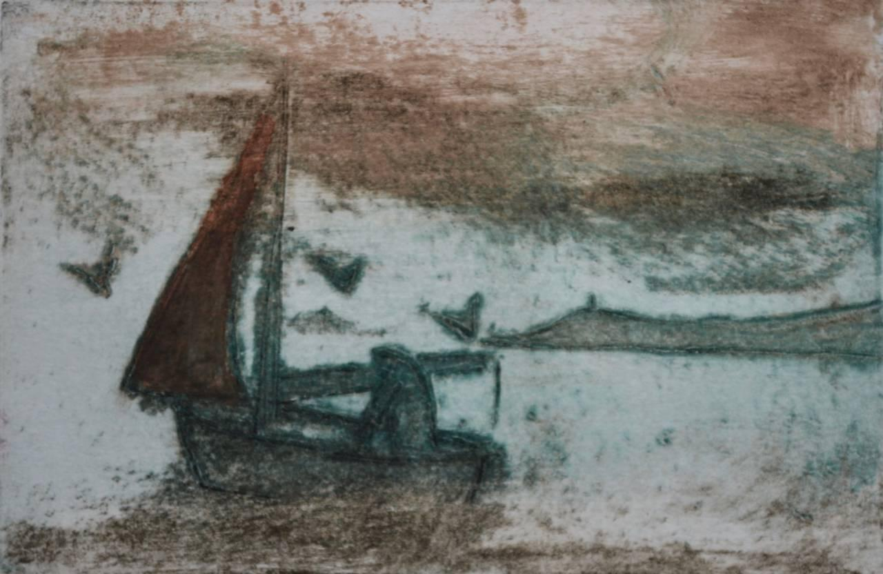 Sailing:Contemporary Limited Edition Etching