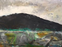 Black Mountain: Abstract Expressionist Contemporary Landscape by Peter Rossiter