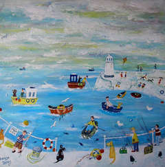 Bobbing: Contemporary outsider Art Figurative Painting