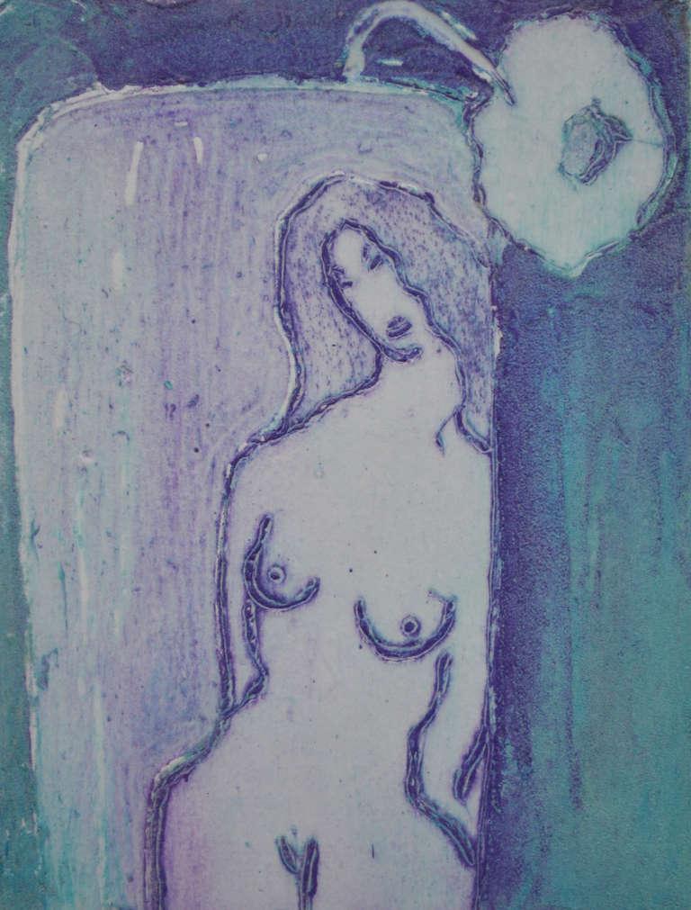 Ian Laurie Nude Print - Reflection