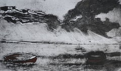 Mounts Bay, Cornwall England, Monochrome:Contemporary Limited Edition Etching