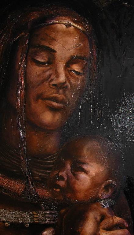 Himba - Painting by Guusje Bertholet