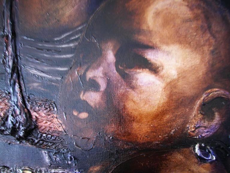 Himba - Realist Painting by Guusje Bertholet