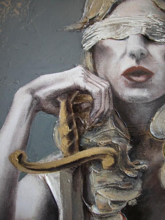 Justice III - Contemporary Painting by Guusje Bertholet