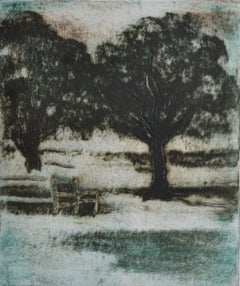 Waiting Chair      Contemporary limited edition etching