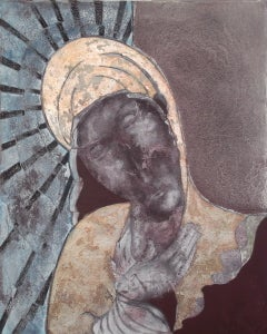 Pieta: Contemporary  figurative oil painting by Sax Berlin