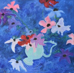 """""""Winter Anemones"""" Contemporary Abstract Expressionist Oil Painting"""