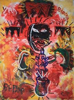 That Kat Bird. Neo Expressionist Portrait of Charlie Parker by Sax Berlin