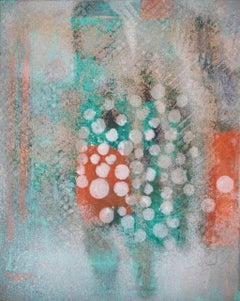 D 2: Mixed Media Contemporary Painting by Peter Rossiter