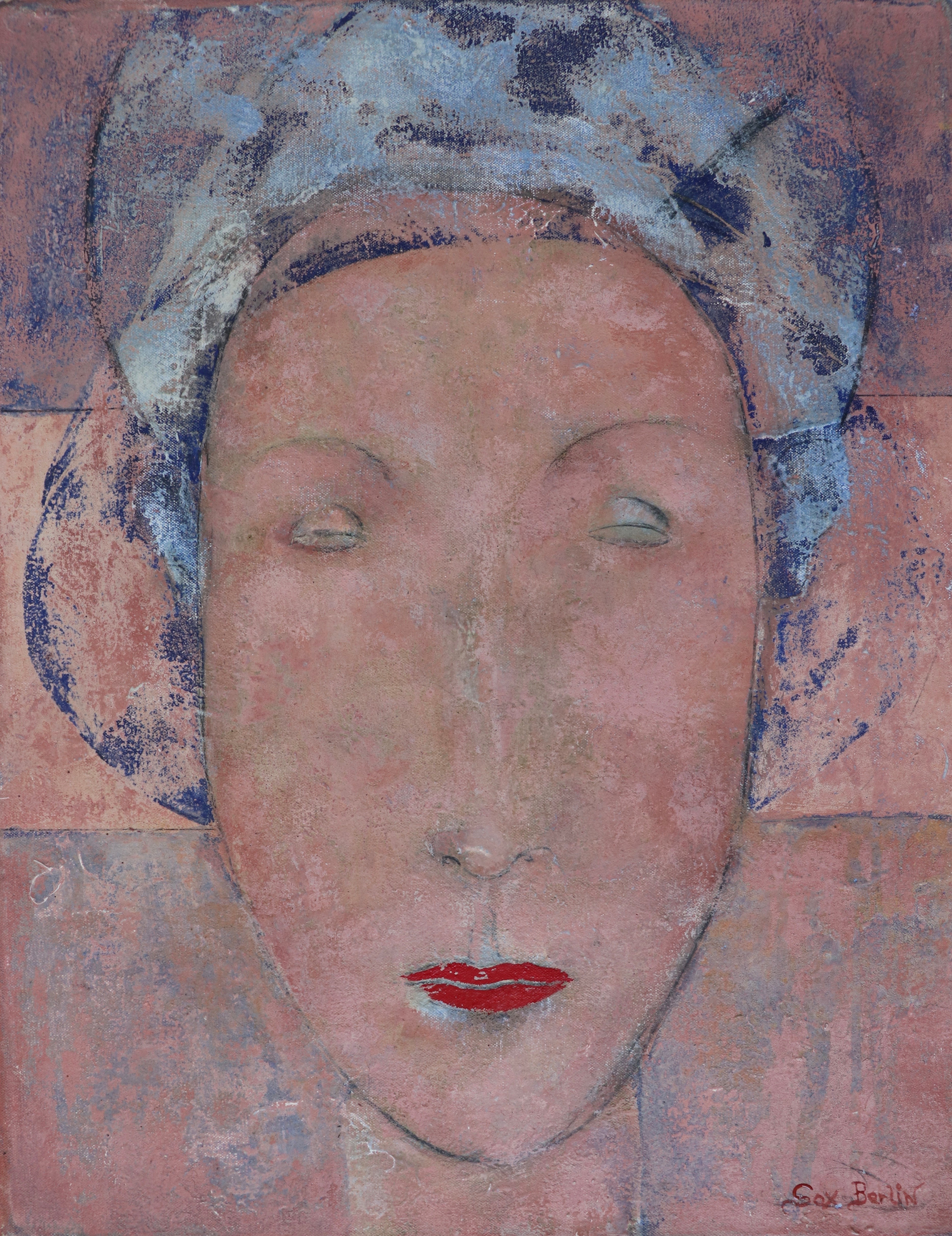 """""""Lady"""". Contemporary Figurative Oil Painting"""