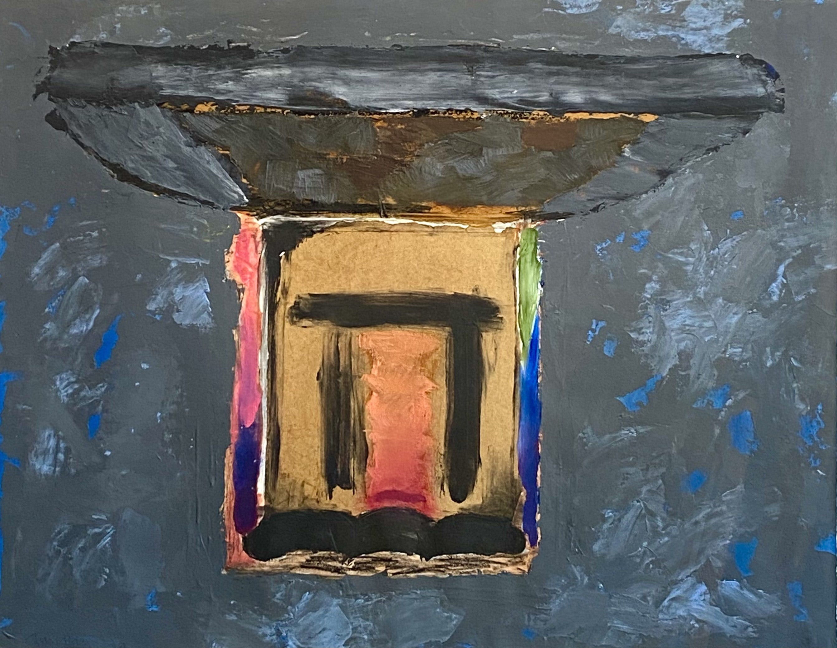 Old Place.  Contemporary Mixed Media Abstract Painting