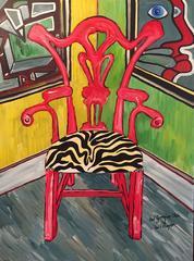 Red Georgian Chair