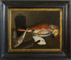 Still life with fish, after William Merritt Chase (1849-1916)