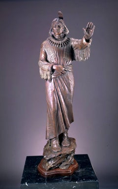 Standing Bear, Paul Moore Choctaw, Ponca bronze sculpture realism western