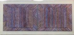Stage Series, III, IV, handmade colored abaca fiber paper, purples, pinks
