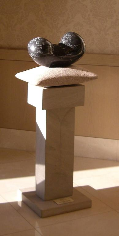 Chrysalis, unique stone sculpture, granite, limestone contemporary sculpture - Sculpture by John Reeves