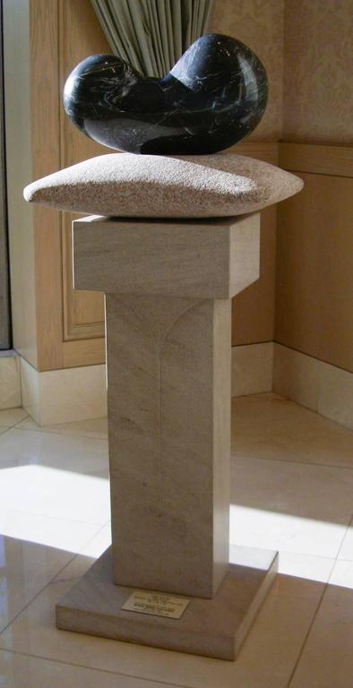 Chrysalis, unique stone sculpture, granite, limestone contemporary sculpture - Contemporary Sculpture by John Reeves