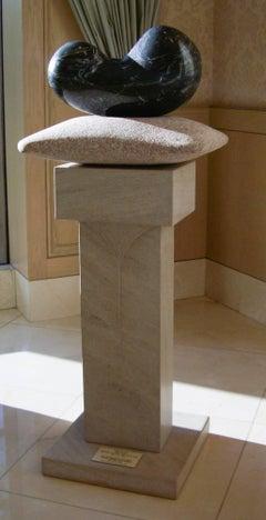 Chrysalis, unique stone sculpture, granite, limestone contemporary sculpture