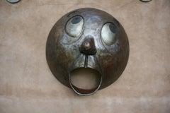 Yelp, Rodger Jacobsen, steel, large wall sculpture, big eyes, humorous