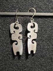 Grandchildren, sterling silver earrings, Navajo