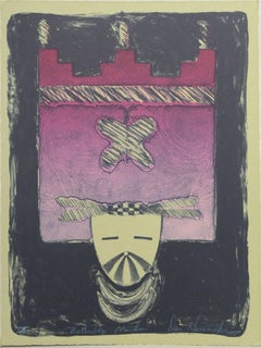 Butterfly Maiden, by Dan Namingha limited edition lithograph Hopi kachina pink