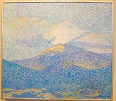 Clouds Over the Jemez, unique painting new mexico landscape, clouds, mountains