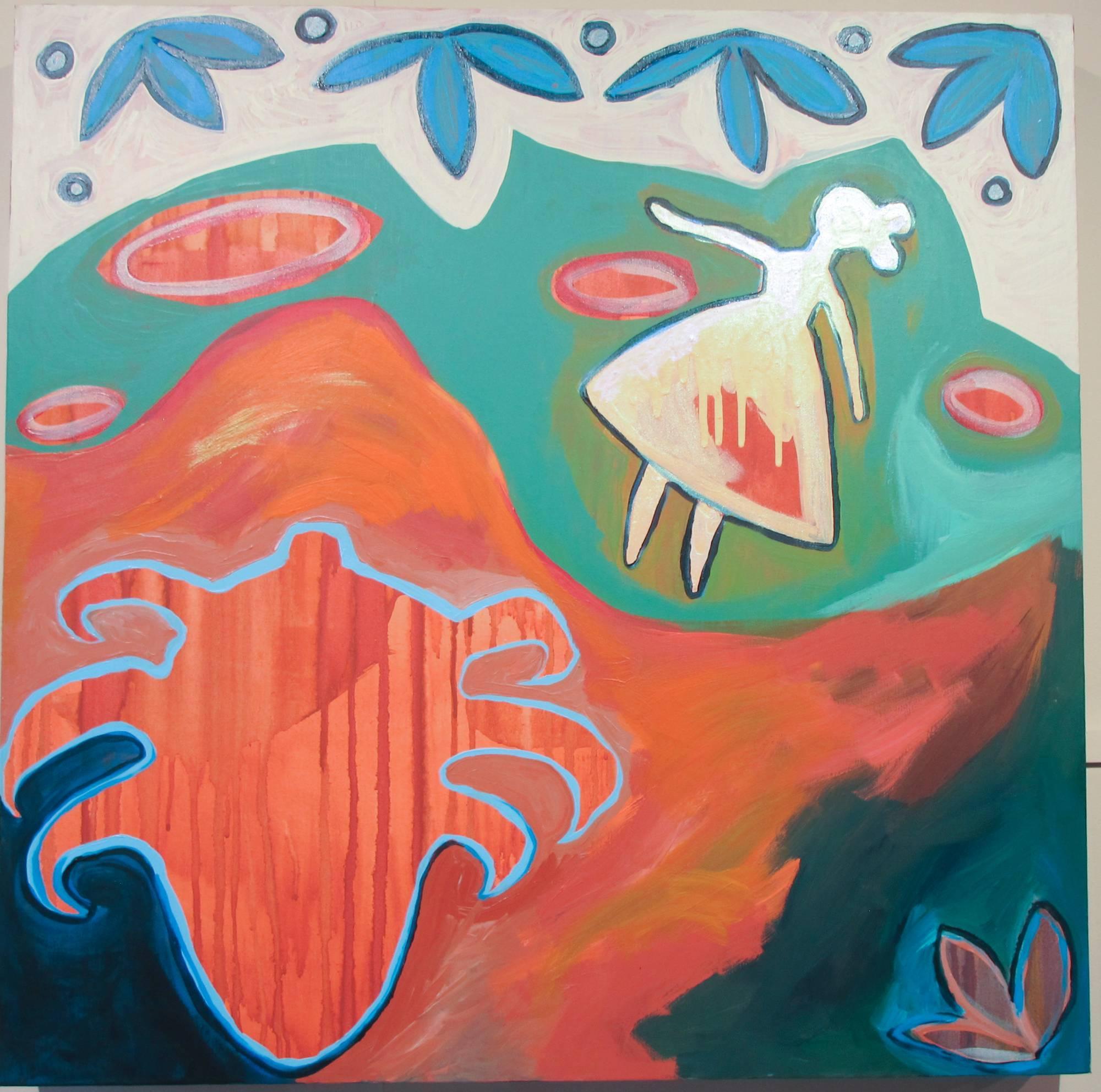 Planting Seeds in the Dirt At Wide Ruins, Melanie Yazzie, Navajo, painting