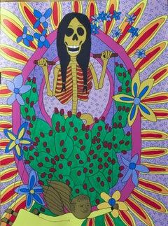 Untitled Puppeteer, Eduardo Oropeza, Day of the Dead, Dia de Los Muertos print