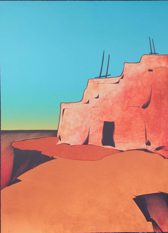 Evening Silence, Hopi, desert, landscape, turquoise, oranges
