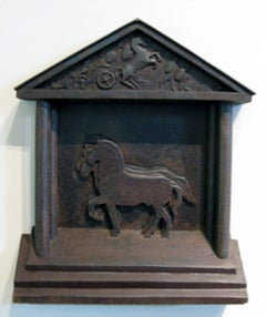 Horses of San Marcos, steel wall hanging sculpture