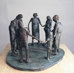 Circle of Friends Generations, bronze sculpture family friends