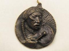 Plains Drummer medallion bronze