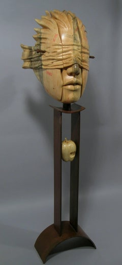 Guilt of Innocence (Postage Due Mr. Lee), wood and steel sculpture,Troy Williams