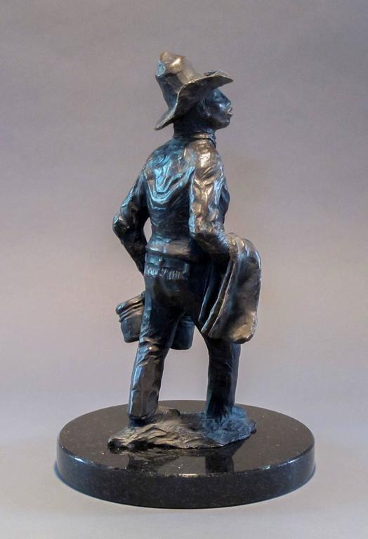 Standing Apache Drummer, bronze sculpture, Allan Houser,solid cast, Nambe - Contemporary Sculpture by Allan Houser (Haozous)