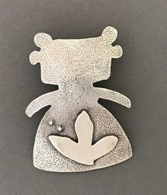 Morning Walker, sterling silver pendant enhancer, Native American Navajo