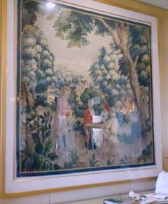 Aubusson Style Verdure Tapestry panel, trees, people, French, late 18th century