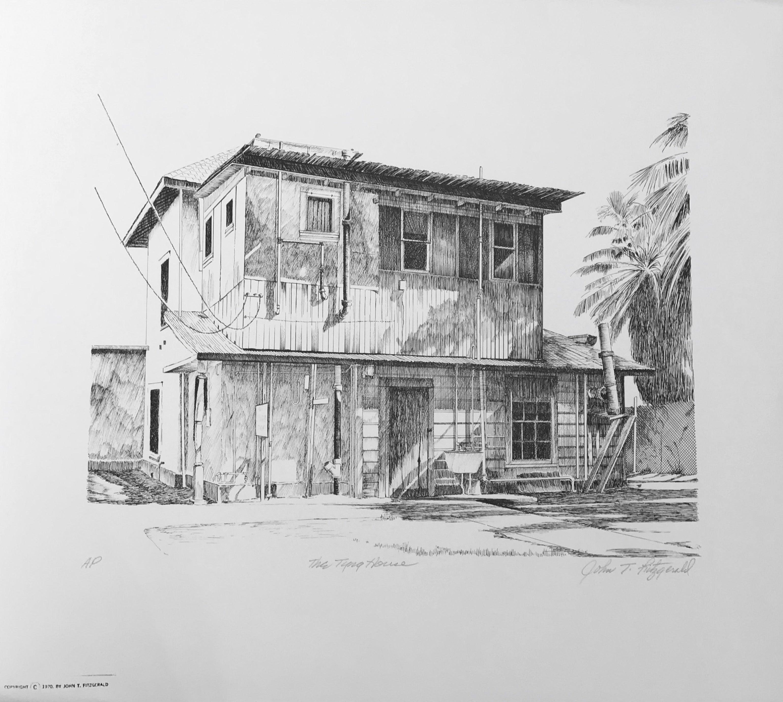The Tyng House, John Fitzgerald black and white offset print house retro Phoenix