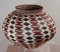 Red, Black, White & Green Basket